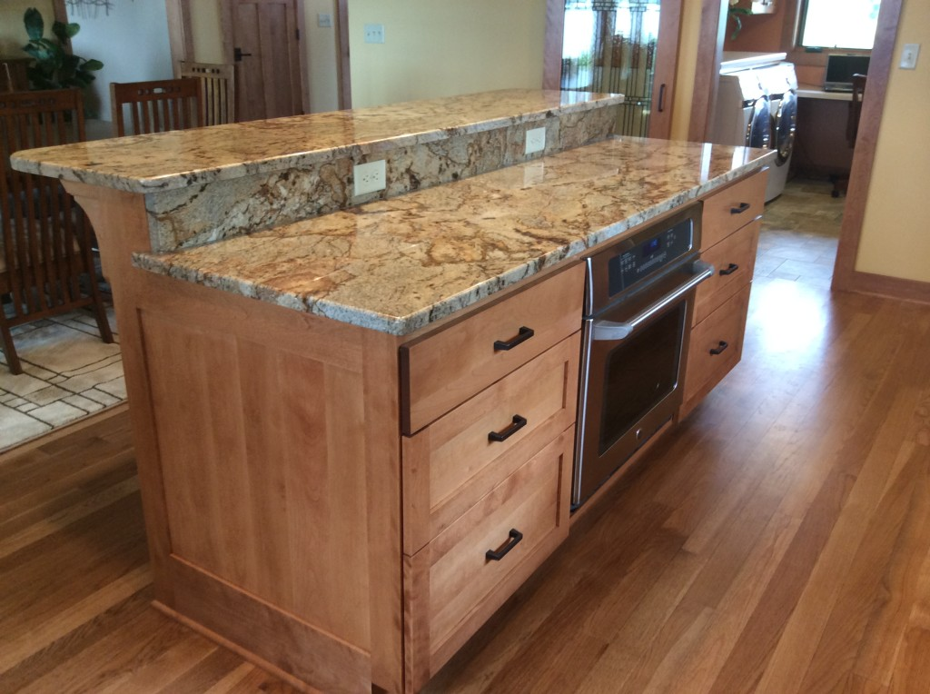 Cabinet with granite top